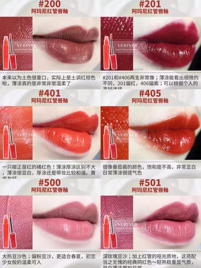 史上最全 各大品牌口红热门色号大全